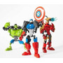 Muñecos Desarmables; Capitan America, Ironman, Hulk.