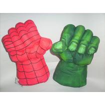 Puños Guantes Gigantes!! Hulk-hombre Araña-28 Cm De Alto C/u
