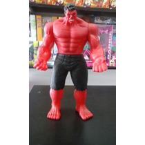 Muñeco Del Increible Hulk Rojo - Tamaño Grande 25 Cm