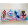 Vengadores Thor Capitan America Iron Man + Anteojo Con Luz
