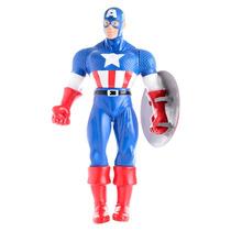 Capitan America Muñeco Marvel Los Vengadores 50cm Con Escudo