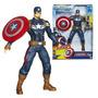 Capitan America Figura 23cm Lanza Escudo Sonidos Hasbro