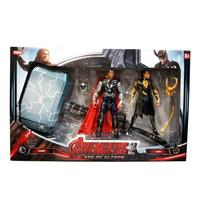 Muñeco De Thor + Loki + Martillo Grande C/luz Juguete Marvel
