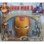 Muñecos De Iron Man - Set 2 Personajes + Mascara Con Luz