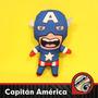 Capitan America Muñeco Vellon Peluche Tela
