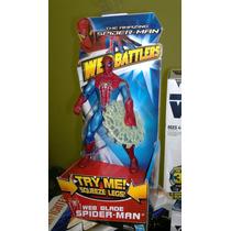 Spiderman 2012 Hombre Araña Web Blade De 18 Cm Unico!!!