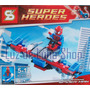 Spiderman Con Nave Para Armar - No Es Lego