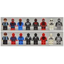 Spiderman - Set Completo X 8 Mini Figuras - Marca S Y