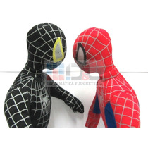 Hombre Araña Spiderman Peluche Enorme 60 Cm Negro O Rojo !!!