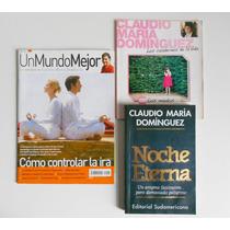 Lote Libro Noche Eterna. Claudio Maria Dominguez + Revistas