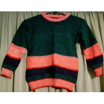 Pullover, Sweater Tejido Nene-nena, Talle 3-6 Años,impecable