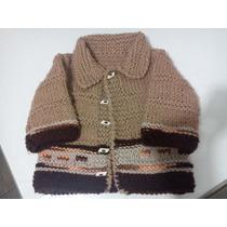 Saquito Sweater Pullover Bebe Tejido A Mano Usado Nuevo