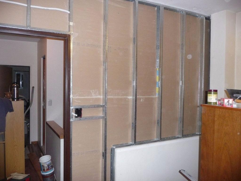 Tabique pared divisiones con durlock y kanuf por m2 for Precio m2 tabique pladur colocado