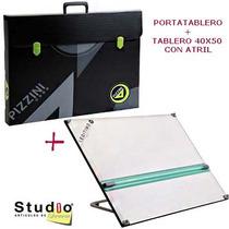 Tablero Pizzini 40x50 Con Atril + Portatablero Pizzini