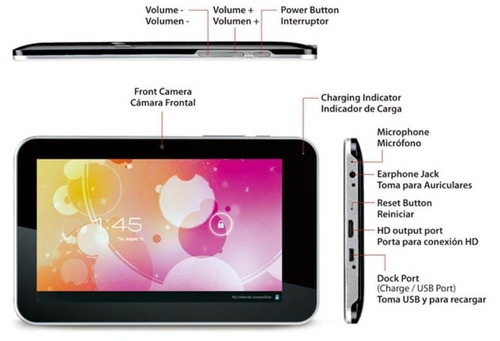 Tableta Genius Gp-720 7 Tablet Pc - Wi-fi - Android 4.1 Os