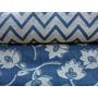 Tela Azul Con Flores Chenille Con Jacquard Para Tapizar