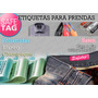 300 Etiquetas Ropa Tela Saten Autoadhesivo Poliamidas Tags
