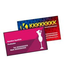 Tarjetas Personales Full Color X 1000 - 350gr - Laminadas !!