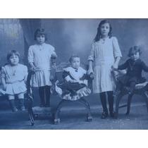 Antigua Tarjeta Postal 5 Ñiñas Sillones