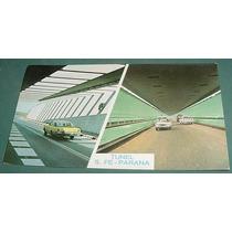Tarjeta Postal Postcard Subfluvial Parana Automoviles Coche2