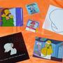 Simpsons - Stickers Calcomanías Etiquetas Autoadhesivas