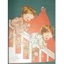 Vintage Tarjeta Christmas Navidad Niños Troquelada Figuras