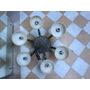 Araña De Bronce Con Tulipas De Alabastro, En Perfe