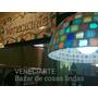 Lámpara Colgante Campana 30 Cm Decorada Venecitas Cocina
