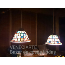 Lámpara Colgante 2 Luces Decorada Con Venecitas Cocina