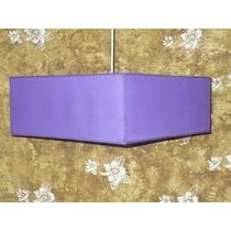 Lámpara Colgante Cuadrada En Tela 40-40 Cm X 20 Cm Altura