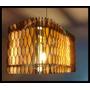 Lampara Colgante Mdf Diseño Exclusivo Pietra Zona Norte