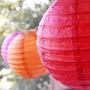 Lamparas De Papel Chinas Balones Pack X 4 Unidades!