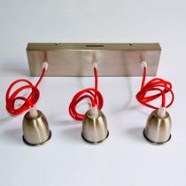 Lumo Lamps | Aplique De Tres Luces Con Cable De Colores