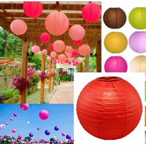 Lampara De Papel De Arroz Todos Los Colores!!! Medida 25cm