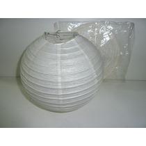 Lampara Pantalla Globo Papel De Arroz Esfera 15 Cm Blanca