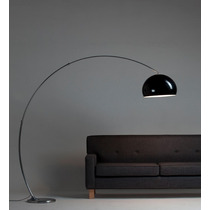 Lámpara De Pie Moderna Arco Curva Regulable Acrilico Deco