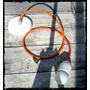 Lampara Colgante - Cable Textil - Florón Metálico Y Bobacha