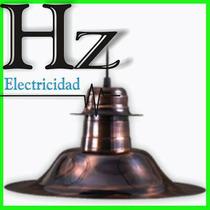 Campana Colgante Cobreada C115 Lamparas Bajo Consumo O Comun