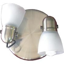 Spot Acero Apto Ventilador P/2 B.consumo (opcion 3 Luces)
