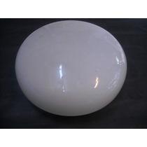 Vidrio Tipo Boina Para Plafon Diametro 25cm Opal Brillante
