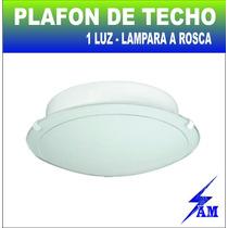 Plafon De Techo Economico 1 Luz Vidrio