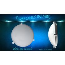Plafon Bombe De 21 Cm Armado Blanco