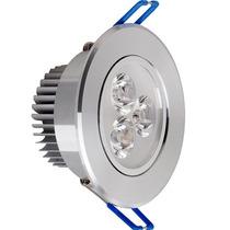 Spot Embutir Led 3w Aluminio Movible 220v Luz Calida Y Fria