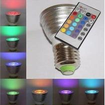 Lampara Led E27 Rgb C/ Control Remoto 16 Colores