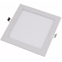 Panel Plafon Led Cuadrado 12w Embutir Blanco Frio 17x17cm