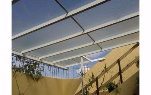Techos y cerramientos de aluminio con policarbonato o - Vidrio de policarbonato ...