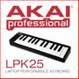 Controlador Usb Akai Lpk 25 Miniteclas Con Soft - En Palermo