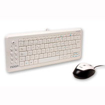 Kit Teclado Y Mouse Noganet Diseño Ultra Slim Multimedia Usb