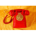 Telefono Ericsson De Pared Rojo