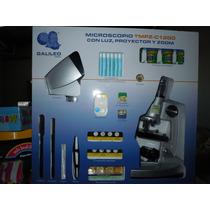 Microscopio Galileo- Con Luz Proyector Y Zoom 1200 Aumentos-